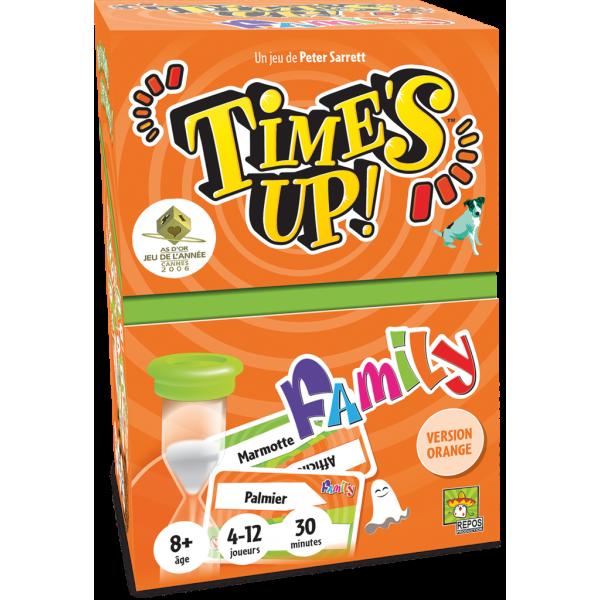 time's up family orange boîte