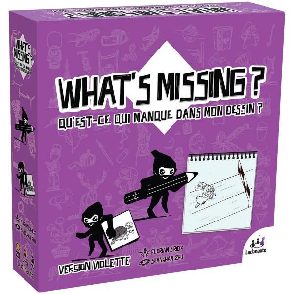 what's missing - version violette boîte